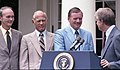 President Jimmy Carter with Michael Collins, Neil Armstrong, and Buzz Aldrin.jpg