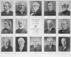 Canadian prime ministers, 1867–1963.