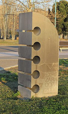 Primera piedra EXPO Zaragoza 2008.jpg