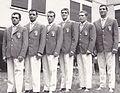 Primo Zamparini, Francesco Musso, Sandro Lopopolo, Nino Benvenuti, Carmelo Bossi, Francesco de Piccoli 1960.jpg