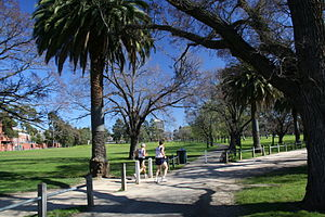 Princes Park, Carlton - Princes Park in Carlton North, with Carlton Football Club ground on the far left