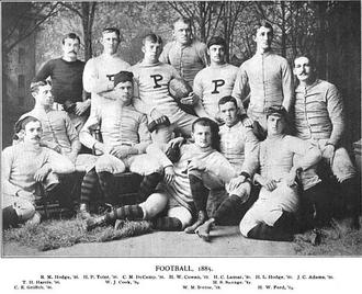 1885 Princeton Tigers football team - Image: Princeton Tigers football team (1885)
