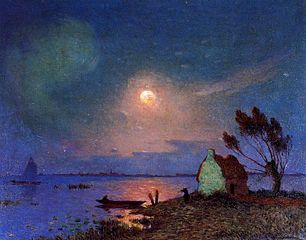 Pont-Aven in the Moonlight
