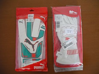 Puma (brand) - PUMA goalkeeper gloves and PUMA motorsport gloves.