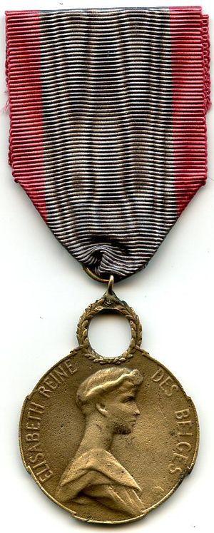 Queen Elisabeth Medal - Image: Queen Elisabeth Medal obverse