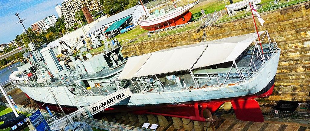 Queensland Maritime Museum HMAS Diamantina (K377)