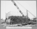 Queensland State Archives 3142 Erection of reinforcing steel in south main pier cutting edge 17 January 1936.png
