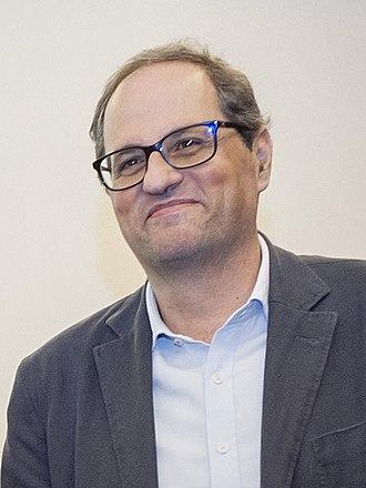 President of the Government of Catalonia - Image: Quim Torra a la Assemblea General d'Òmnium Cultural (2015)