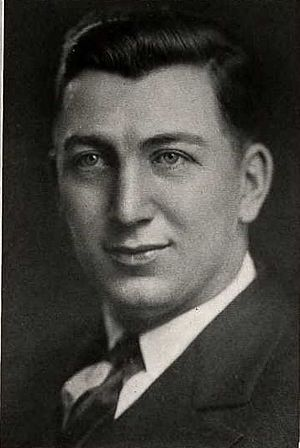 "1925 Michigan Wolverines football team - George Babcock (pictured) scored after ""scooping up a fumble on the dead run."""