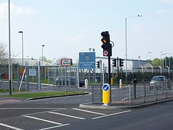RAF Northolt station entrance.JPG