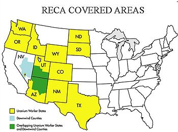 Areas covered by the Radiation Exposure Compen...