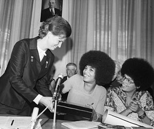Angela Davis - Angela Davis with Valentina Tereshkova, 1972