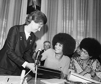 Angela Davis - Angela Davis with Valentina Tereshkova, 1972