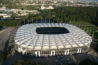 Sport in Hamburg - The Volksparkstadion (Imtech Arena) at Altona Volkspark in Bahrenfeld