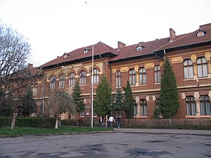 Roman, Romania - The Roman Vodă College building