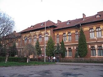 Roman, Romania - The Roman Vodă College building