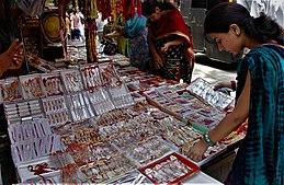 Raksha Bandhan  Wikipedia Women Shopping For Rakhi Articles Writing Service also Essay Thesis Statements  English Essay About Environment