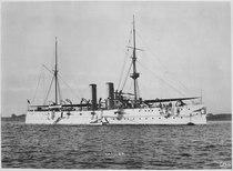 Raleigh (Cruiser 8). Starboard bow, ca. 1900 - NARA - 512958.tif