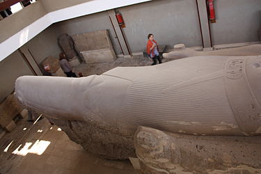 Ramses II colossal statue bottom in Memphis 2010.jpg