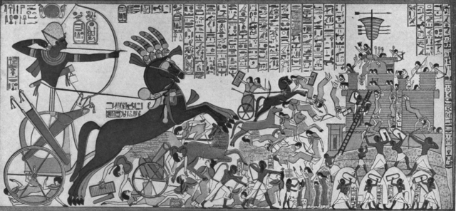 Ramses II at the siege of Dapur