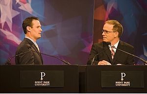 Luke Ravenstahl - Ravenstahl debates Mark DeSantis at Point Park University on October 30, 2007.