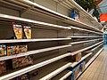 Rayons de jouets vides d'un supermarché à Noël.jpg