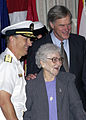 Rear Adm. Mark Boensel and Congressman Ander Crenshaw pose for a photograph with Alison Vivian S. Ladone.jpg
