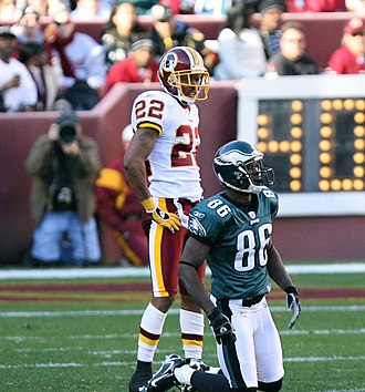 Reggie Brown (wide receiver) - Reggie Brown with the Eagles during a 2006 game in Washington.