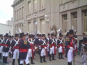Regiment of Patricians - A Patricios Regiment company in dress uniforms