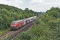 Remagen MEG 218 390-3 met Schroottrein richting Koblenz (27693251934).jpg