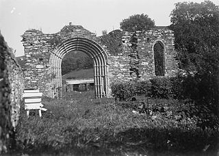 The remains of Strata Florida Abbey