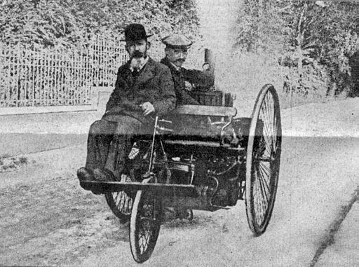 Rene Thury steam tricycle