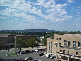 Wausau, Wisconsin - Rib Mountain from downtown Wausau