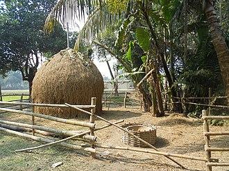 Chokapara - A traditional way to shelf the rice straw in chokapara