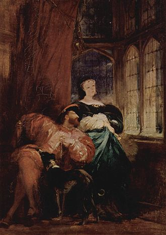 "Marguerite de Navarre - ""Francis I and Marguerite de Navarre"" by Richard Parkes Bonington"