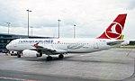 Riga Airport. Turkish Airlines Airbus A320-232 TC-JUJ (14415759396).jpg