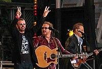 Starr (far left) in concert, June 2005