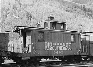 Rio Grande Southern Railroad - Image: Rio Grande Southern Caboose 0402 1940
