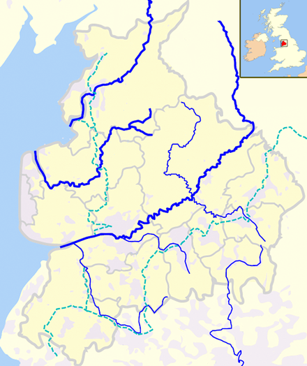 Rivers in Lancashire is located in Lancashire