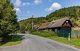 Road III-4875 and a house in Kychová (Huslenky), Vsetín District, Zlín Region, Czech Republic 31.jpg