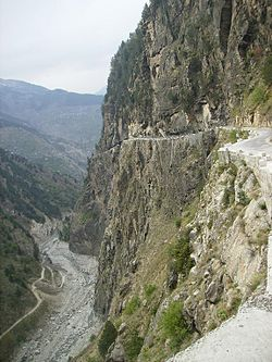 Road to Sangla Valley, Karchham, Sangla Valley, Kinnaur District, Himachal Pradesh.JPG