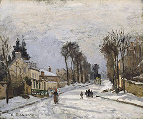 Road to Versailles at Louveciennes (The Snow Effect)