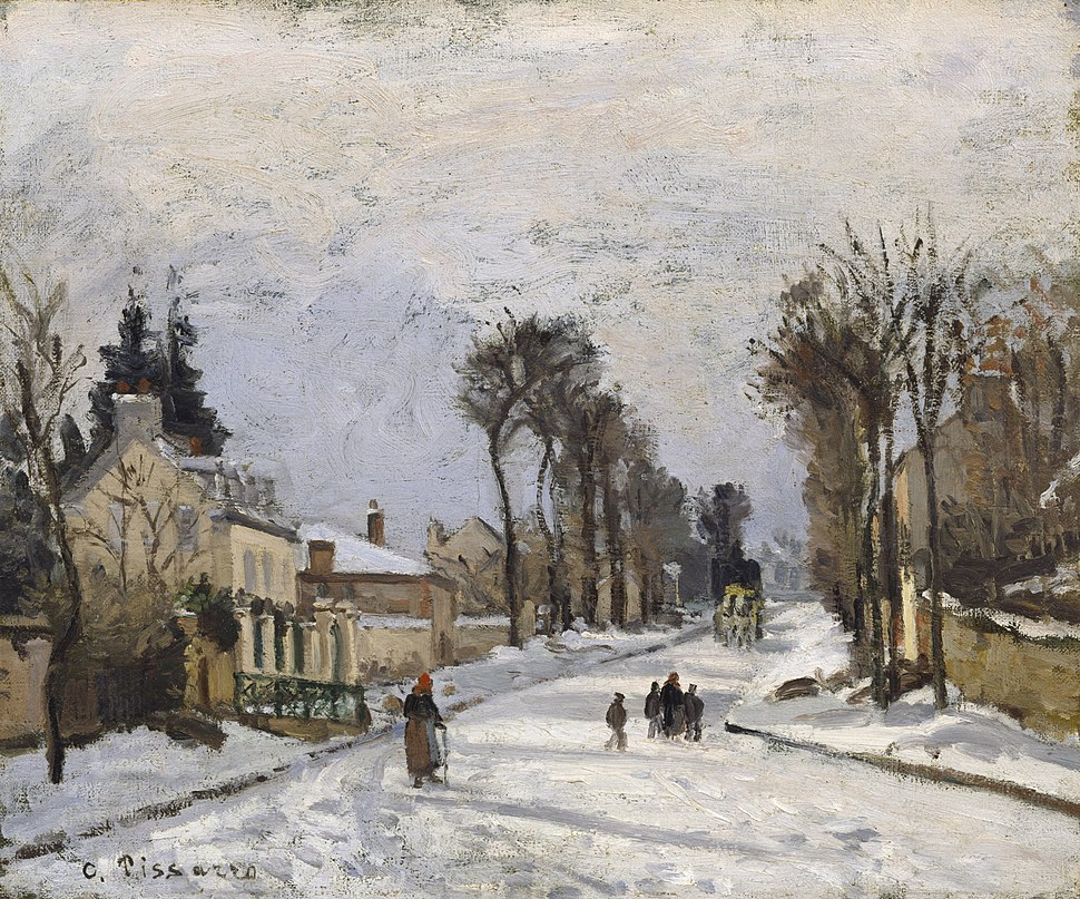 Road to Versailles at Louveciennes 1869 Camille Pissarro