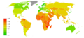 Road traffic accidents world map - Death - WHO2016.png