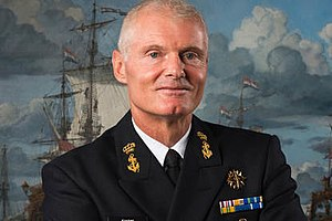 Royal Netherlands Navy - Vice-Admiral Rob Kramer is the current Commander of the Royal Netherlands Navy