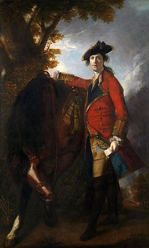Coldstream Guards - Lt Robert Orme (1756) by Sir Joshua Reynolds