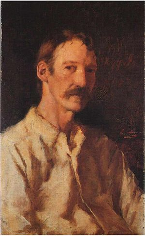 Portrait of Robert Louis Stevenson, 1892.