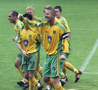 History of Norwich City F.C. - Iwan Roberts, scored 84 goals for Norwich in a space of seven years, around the turn of the millennium.