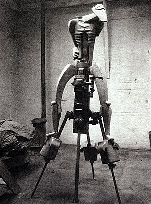 1913 in art - Epstein's Rock Drill in original form on machine base