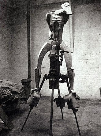 Jacob Epstein - Epstein's 1913 sculpture The Rock Drill in its original form. It is now lost.